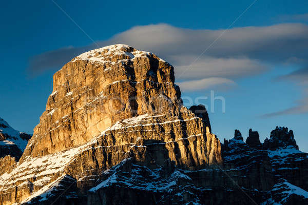 Sassongher Peak on the Ski Resort of Corvara, Alta Badia, Dolomi Stock photo © anshar
