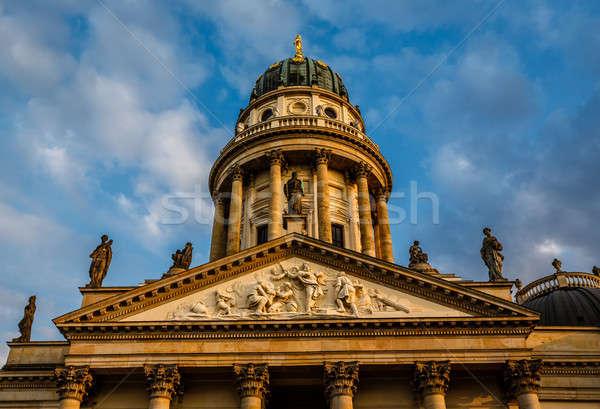 German Cathedral on Gendarmenmarkt Square in Berlin, Germany Stock photo © anshar