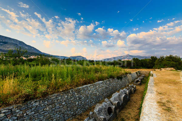 Cemetery Ruins in the Ancient Town of Salona near Split, Croatia Stock photo © anshar