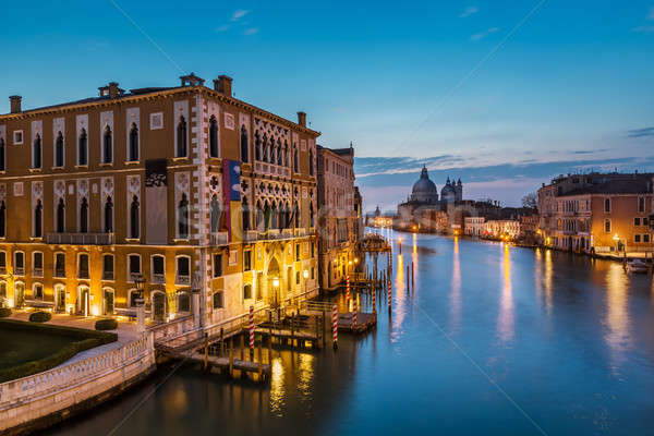 View on Grand Canal and Santa Maria della Salute Church from Acc Stock photo © anshar
