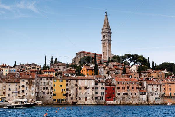 Medieval City of Rovinj and Saint Euphemia Cathedral, Istria, Cr Stock photo © anshar