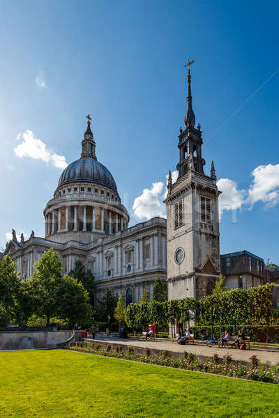 Saint Paul's Cathedral in London on Sunny Day, United Kingdom Stock photo © anshar