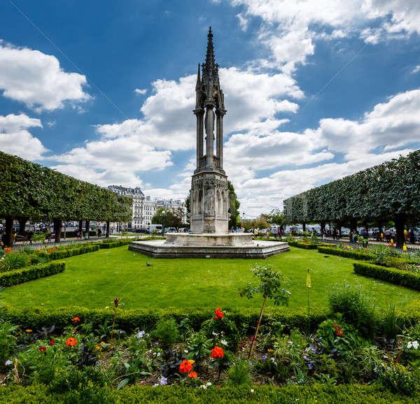 Notre Dame de Paris Garden on Cite Island, Paris, France Stock photo © anshar