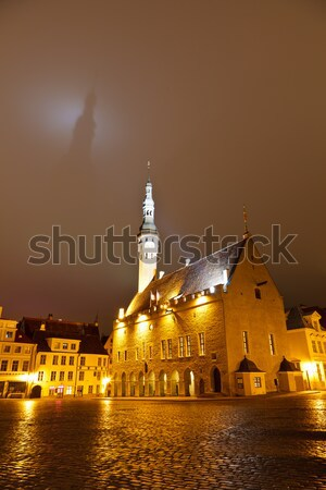 Tallinn municipio ombra buio cielo Estonia Foto d'archivio © anshar