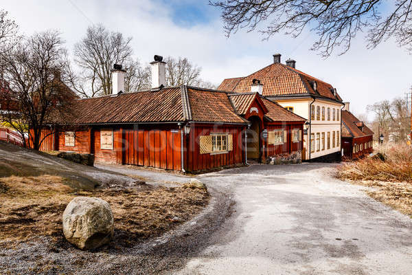 Traditional Swedish Houses in Skansen National Park, Stockholm,  Stock photo © anshar