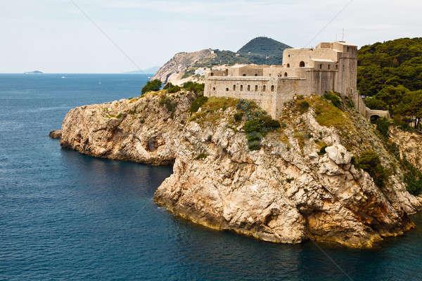 砦 ドゥブロブニク クロアチア 空 水 市 ストックフォト © anshar