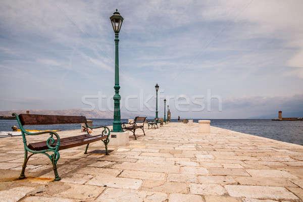 Beautiful Boat Dock in the Town of Senj near Istria, Croatia Stock photo © anshar