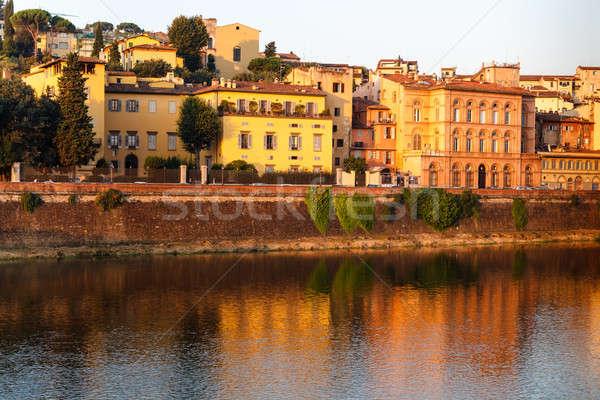 川 日の出 フィレンツェ トスカーナ イタリア 市 ストックフォト © anshar
