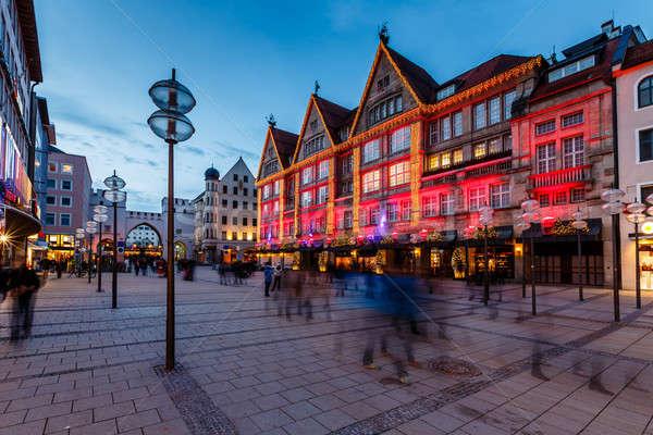Rua portão Munique noite Alemanha Foto stock © anshar