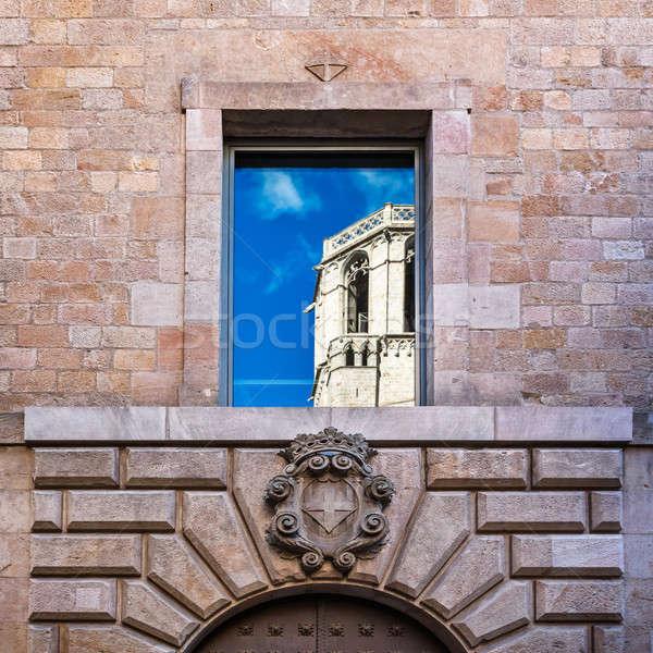 空 大聖堂 聖なる クロス 反射 宮殿 ストックフォト © anshar