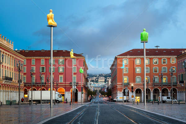 Massena Place in the Morning, Nice, France Stock photo © anshar