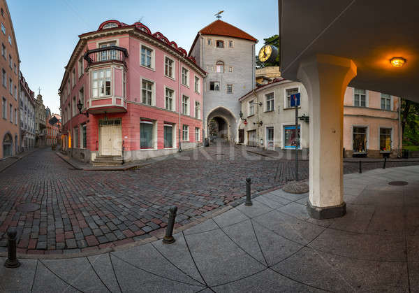 Tallinn Down Town and Tower Gate to the Upper Town, Tallinn, Est Stock photo © anshar