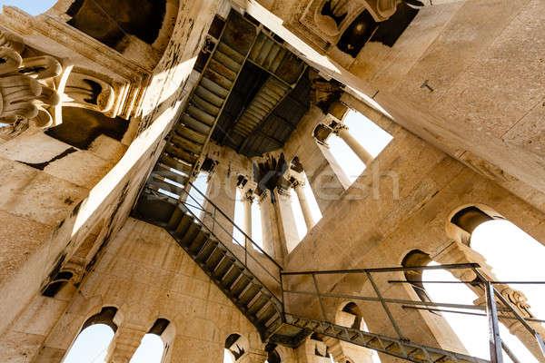 Içinde çan kule aziz katedral Hırvatistan Stok fotoğraf © anshar