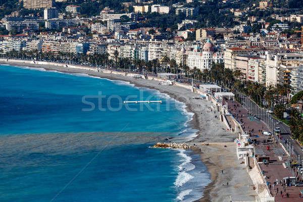 Promenade mooie strand mooie frans huis Stockfoto © anshar
