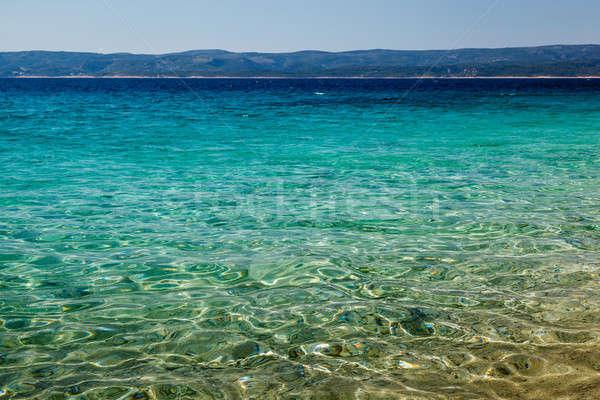 Maravilhoso mar profundo azul água Croácia Foto stock © anshar
