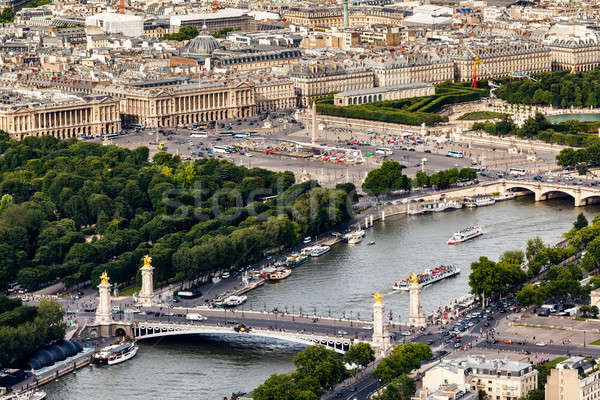 Aerial View on River Seine from the Eiffel Tower, Paris, France Stock photo © anshar