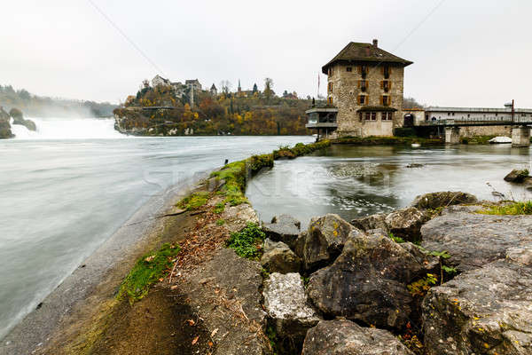 Stock photo: View of the Rhinefall, the Largest Waterfall in Europe, Schaffha