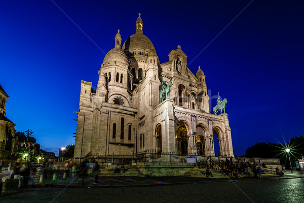 собора Монмартр холме сумерки Париж Франция Сток-фото © anshar