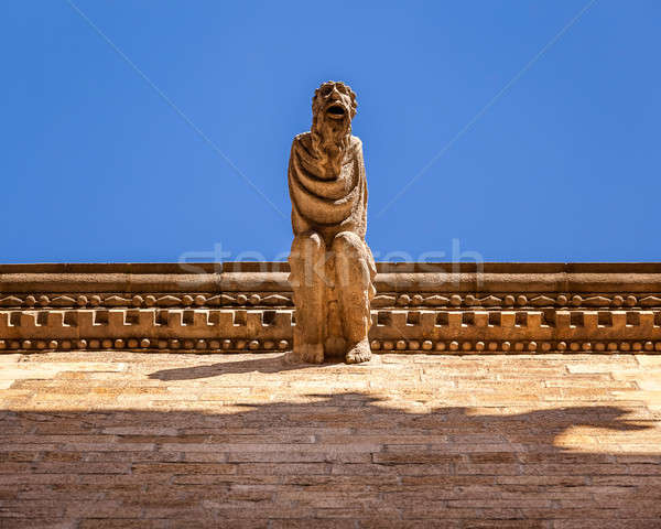 Gargoyle on Reial Major Palace in Barcelona, Catalonia, Spain Stock photo © anshar