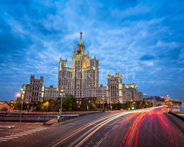 Kotelnicheskaya Embankment Building, One of the Moscow Seven Sis Stock photo © anshar