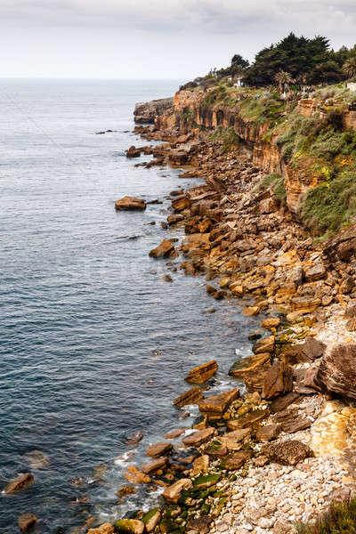 Strand hel mond hel Lissabon Portugal Stockfoto © anshar