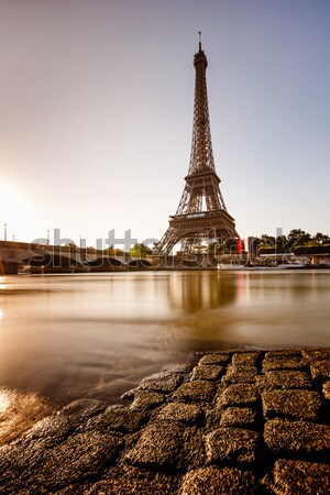 Eiffel Tower and Trocadero Fontains in the Evening, Paris, Franc Stock photo © anshar