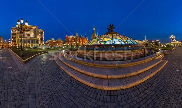 Panorama vierkante Moskou Kremlin avond Rusland Stockfoto © anshar