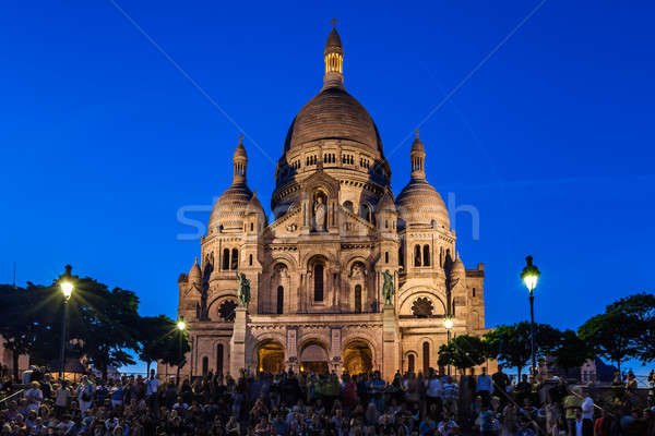 Basilica of the Sacre Coeur on top of Montmartre Hill in Paris,  Stock photo © anshar