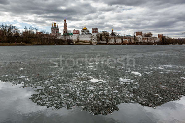 Dramatic Clouds above Novodevichy Convent, Moscow, Russia Stock photo © anshar