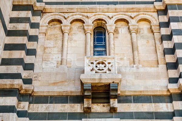 Szczegół widoku la Francja okno kościoła Zdjęcia stock © anshar