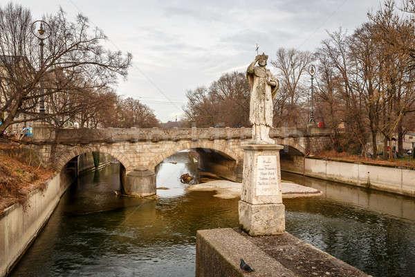 Maximilian Bridge over Isar River in Munich, Upper Bavaria, Germ Stock photo © anshar