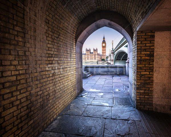 Big Ben, Queen Elizabeth Tower and Wesminster Bridge framed in A Stock photo © anshar