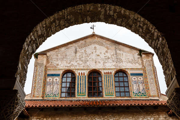 Murals of the Euphrasian Church in Porec, Croatia Stock photo © anshar