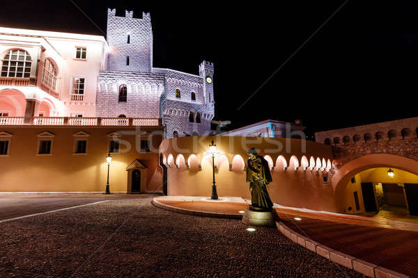 A Statue of Grimaldi Disguised as a Monk before the Prince's Pal Stock photo © anshar