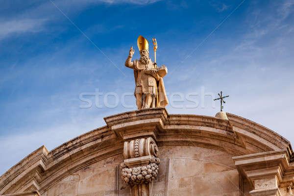 教会 詳細 ドゥブロブニク クロアチア 空 ストックフォト © anshar