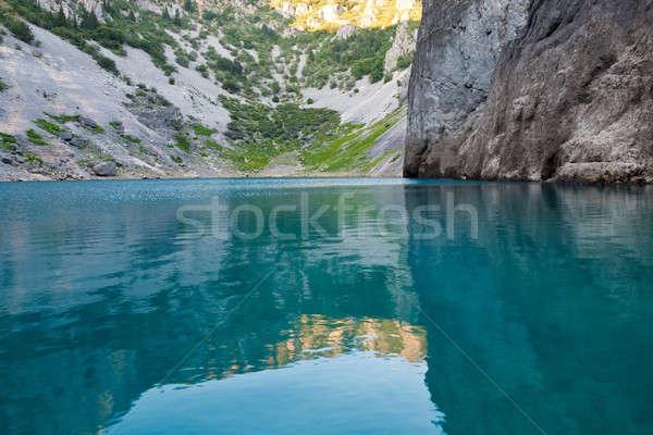 Zdjęcia stock: Niebieski · jezioro · wapień · krater · Chorwacja · wody