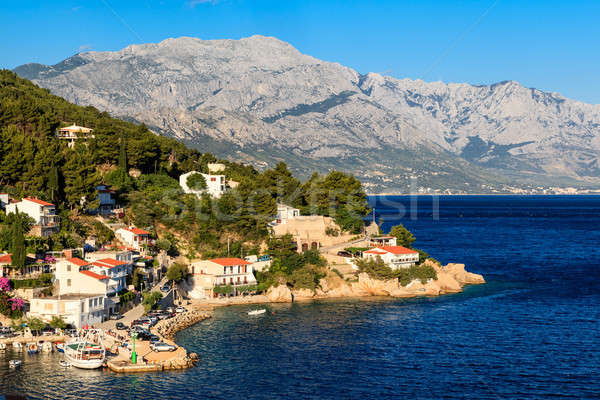 Beautiful Adriatic Beach and Lagoon with Blue Water near Split,  Stock photo © anshar