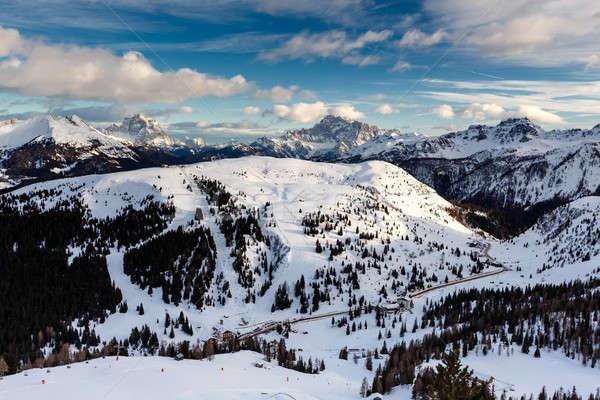 Passo Campolongo Valley near Skiing Resort of Arabba, Dolomites  Stock photo © anshar