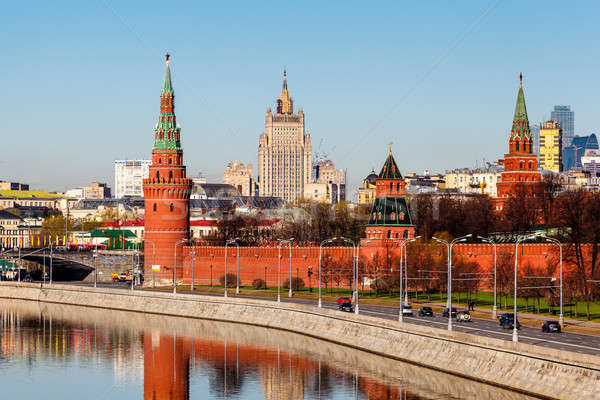 View on Moscow Kremlin and Ministry of Foreign Affairs, Russia Stock photo © anshar
