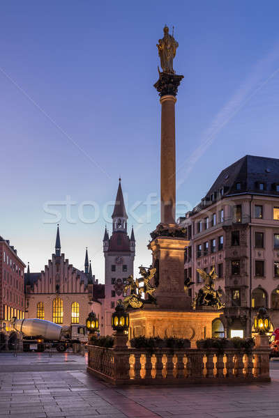 Stock photo: Old Town Hall and Marienplatz in the Morning, Munich, Bavaria, G