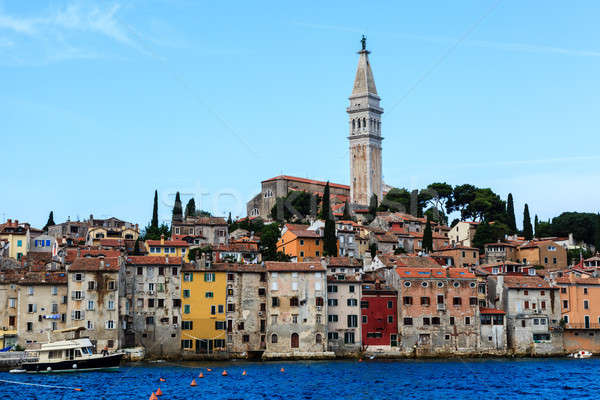 The City of Rovinj on Istria Peninsula in Croatia Lit By Morning Stock photo © anshar