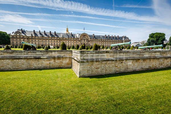 Savaş tarih müze Paris Fransa gökyüzü Stok fotoğraf © anshar