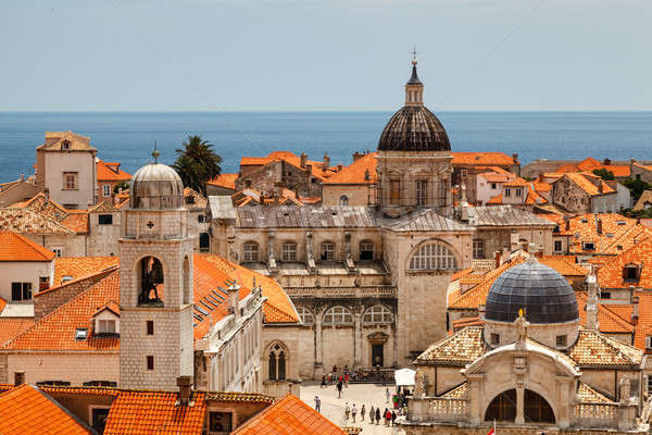 Aerial View on the Old City of Dubrovnik from the City Walls, Cr Stock photo © anshar