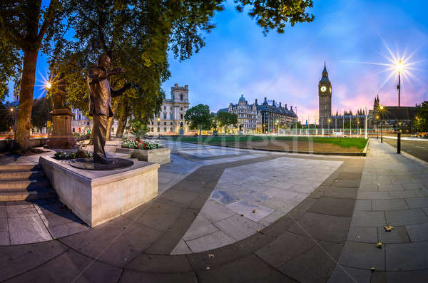 Panorama of Parliament Square and Queen Elizabeth Tower in Londo Stock photo © anshar
