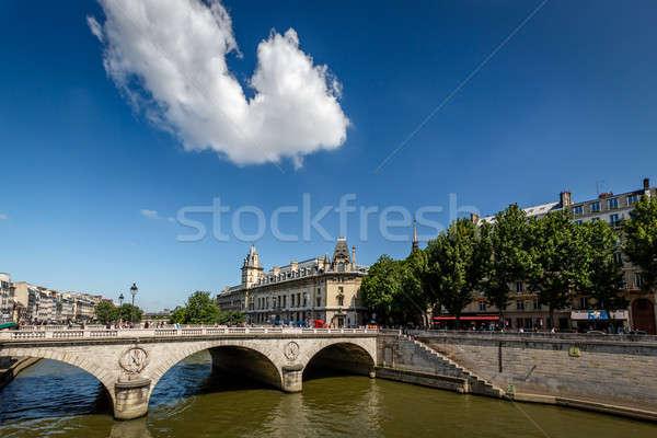 River Seine and Saint-Michel Bridge in Paris, France Stock photo © anshar