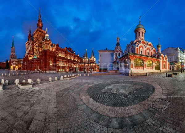Panorama of the Red Square - Kremlin, Historical Museum, Resurre Stock photo © anshar