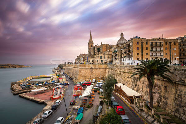 Valletta Skyline in the Cloudy Morning, Malta Stock photo © anshar