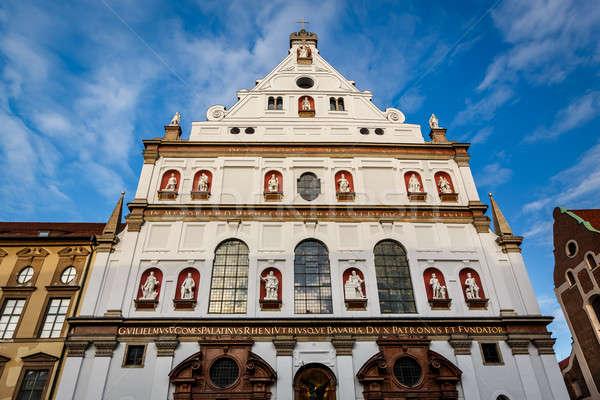 Fachada igreja Munique Alemanha céu Foto stock © anshar