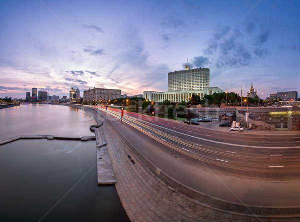русский белом доме вечер Москва Россия здании Сток-фото © anshar