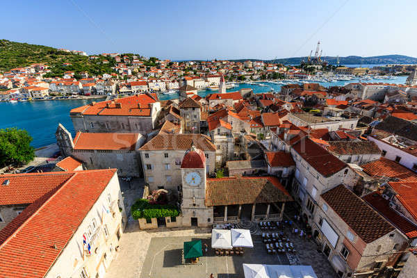 Aerial View on Trogir and it's Main Square from Cathedral of Sai Stock photo © anshar